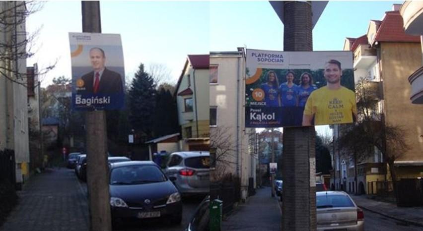 W Sopocie Nadal Wiszą Plakaty Wyborcze Kandydaci Na Radnych