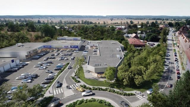 Oto wizualizacje planowanego parku handlowego w Krośnie Odrzańskim.