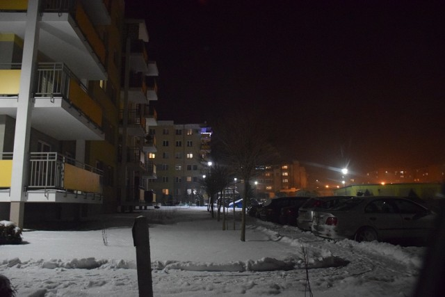 Zobacz zdjęcia Kraśnika po zmroku, zrobione 18 stycznia 2021.