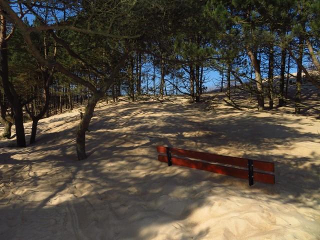 Pod piachem znalazł się nie tylko deptak, ale także ławki oraz urządzenia rekreacyjne.