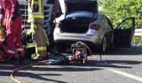Groźny wypadek w Witnicy. Zderzyły się trzy pojazdy