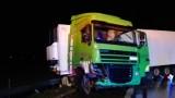 Tir uderzył w barierki na S8 w Studziankach koło Tomaszowa. Droga była zablokowana [ZDJECIA]