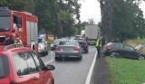 Gmina Gardeja. Zderzenie dwóch aut na DK 55 na trasie Gardeja - Kwidzyn. Jedna osoba trafiła do szpitala [ZDJĘCIA]