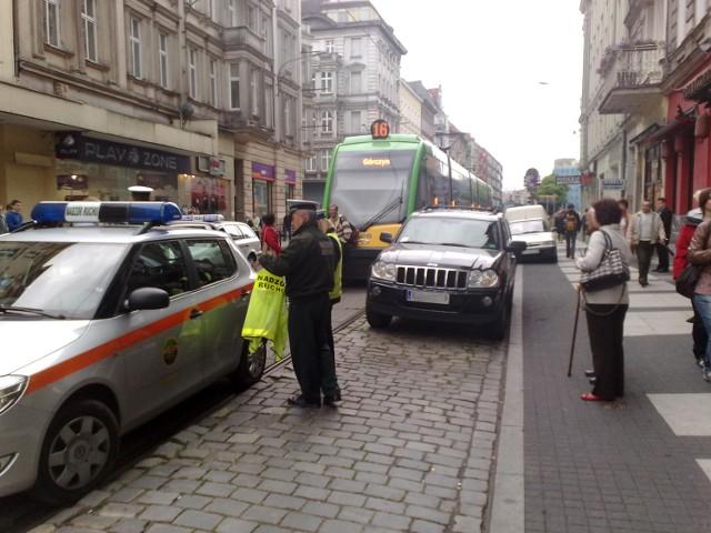 Gigantyczny tramwajowy korek na Świętym Marcinie – to zasługa ...