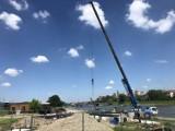Kraków. Trwa budowa platformy pod balon widokowy, wkrótce loty [GALERIA]