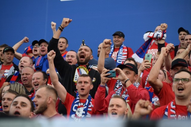 Raków Częstochowa - Lech Poznań ZDJĘCIA KIBICÓW. Pierwsze spotkanie ligowe na nowym stadionie