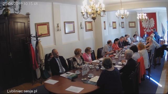 Sesja Rady Miejskiej w Lublińcu 25.04.2019.