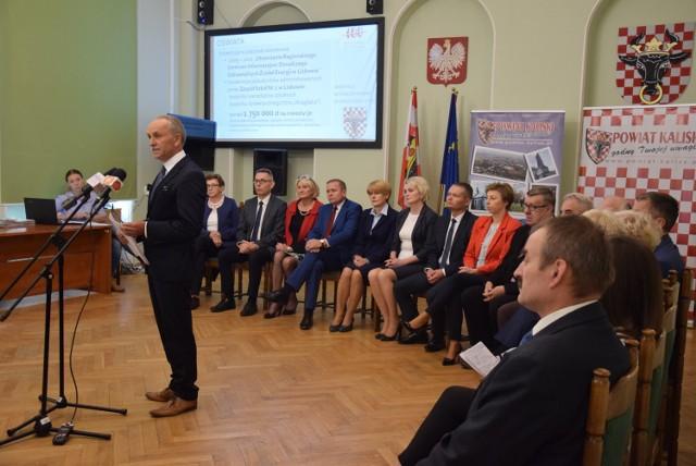 Starosta Krzysztof Nosal podsumował zadania zrealizowane w latach 2006-2018 przez powiat kaliski