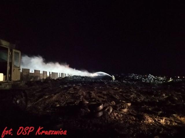 Strażacy z OSP Kruszwica, OSP Pakość i OSP Gniewkowo do Raciniewa zostali zadysponowani 15 listopada. Do ich zadań należało dogaszanie pożaru składowiska opon