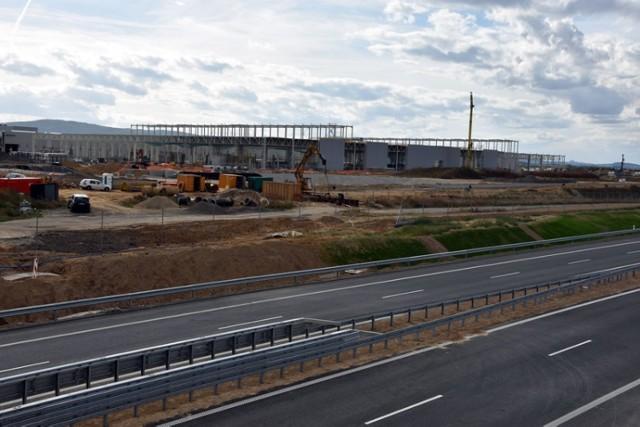 Budowa drogi ekspresowej S3 pod Legnicą.