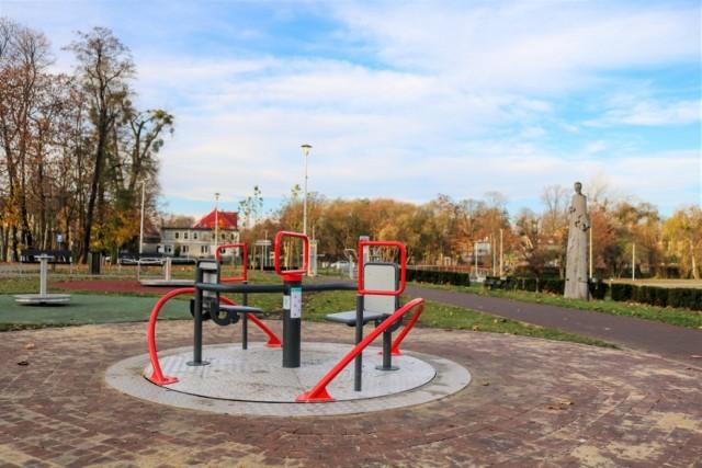 Projekt zrealizowany z BO - Karuzela integracyjna - plac zabaw na Bulwarze Franciszka Grotowskiego