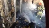 Tak wyglądało gaszenie pożaru na os. Kopernika w Poznaniu z perspektywy strażaka. Zobacz wideo