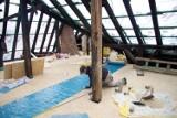 Odbudowa dachu zamku Książ (ZDJĘCIA)
