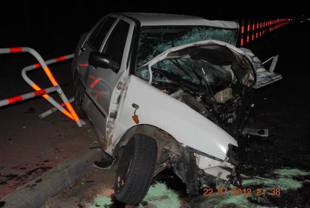Wypadek w Okunince w lipcu 2012 r.