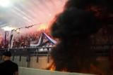 Race i pożar na stadionie Wisły. Interweniowała straż pożarna [ZDJĘCIA]