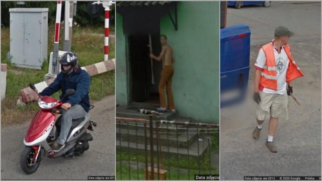 Mieszkańcy gminy Waganiec w obiektywie Google Street View.