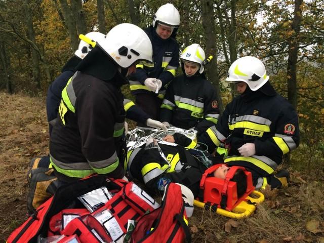 W ćwiczeniach w Kałdusie udział wzięło 10 zastępów i 54 strażaków.