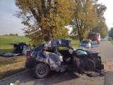 Czołowe zderzenie na drodze Szczepkowo – Cygany (gm. Gardeja). Kierująca oplem 25-latka nie zachowała ostrożności przy wyprzedzaniu