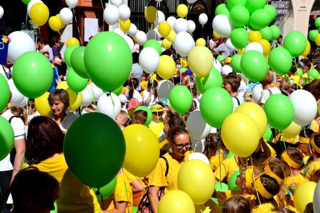 A tak było rok temu na paradzie przedszkolaka w Zielonej Górze.