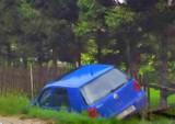 Gmina Nowy Żmigród. Wypadli z drogi, ale ucierpiały tylko pojazdy, drzewo i ogrodzenie