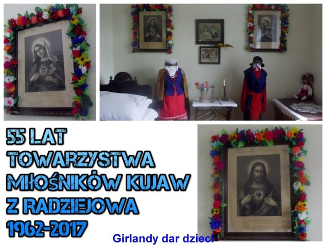 """Pozostawiają trwały swój udział np. poprzez wykonanie kwiatów do palm Wielkanocnych, czy girland otaczających obrazy w """"Alkierzu"""" Izby przy dużym zaangażowaniu wychowawców: Beaty i Celiny Głowackiej, Marii Malinowskiej, Re"""