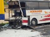 Wypadek na A1 w Bogusławicach (woj. śląskie): Zderzyły się ciężarówka, cysterna i i autobus