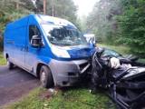 Wypadek pomiędzy Dzietrznikami a Załęczem. Trzy osoby przewiezione do szpitala