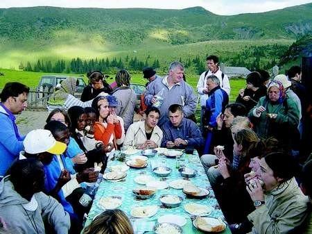 Delegatów jednoczyły nie tylko zajęcia, ale i wspólne posiłki. DP