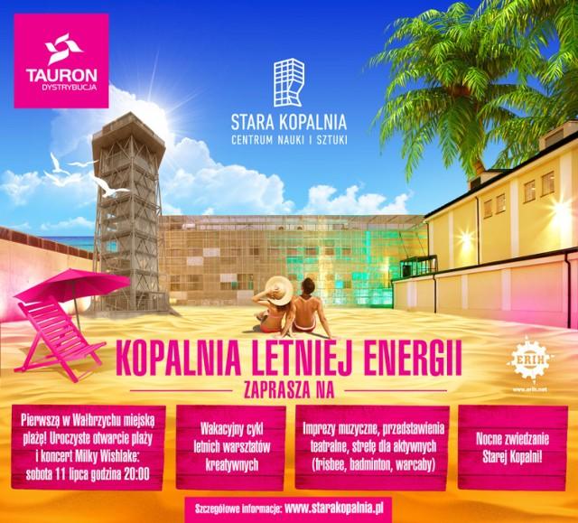 Otwarcie miejskiej plaży w Wałbrzychu odbędzie się w sobotę 11 lipca