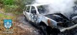 Dziwny pożar w lesie koło Kożuchowa. Nie wiadomo, co się stało i do kogo należał samochód