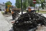 Rozpoczął się remont trawiastego parkingu przy skwerze ks. Jerzego Popiełuszki [ZDJĘCIA]