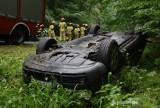 Na trasie Sulmierzyce-Krotoszyn samochód wypadł z drogi [ZDJĘCIA]