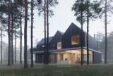 Dom w samym środku lasu pod Warszawą. Budynek nawiązuje do lokalnych świdermajerów