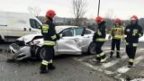 Straszny wypadek w Nowym Sączu na DK75. Trzy osoby w szpitalu