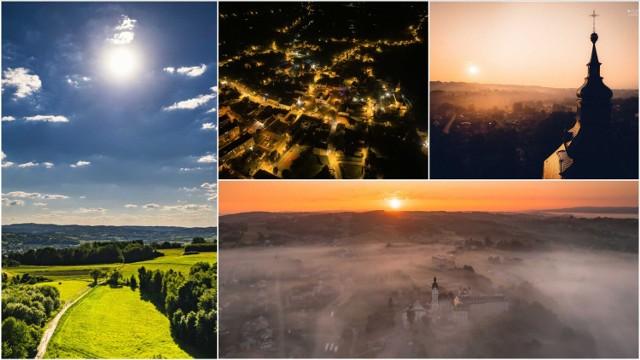 """Tuchów i okolice, Ciężkowice, Lusławice, Pleśna, Tropsztyn to tylko niektóre z miejsc, które uwiecznił na swoich zdjęciach """"z wysoka"""" Piotr Wróbel. Pogórze prezentuje się na nich, niczym magiczna kraina"""