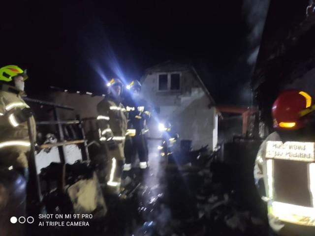 Strażacy z kilku jednostek gasili pożar w Chełmnie na Powiślu