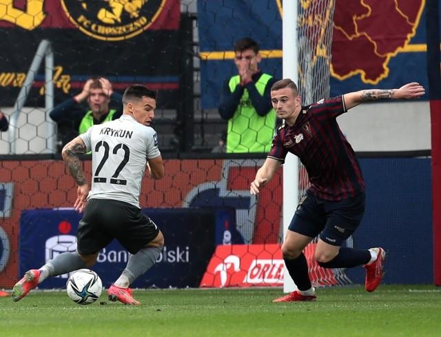 Kacper Kozłowski podczas meczu Pogoni z Górnikiem Łęczna