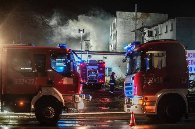 Pożar na ul. Szczecińskiej w Koszalinie