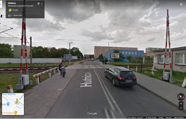 Przejazd kolejowy na ul. Hutniczej we Włocławku