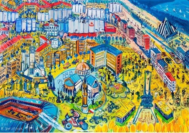 Dzieło Edwarda Dwurnika w Gemini Parku w Tychach