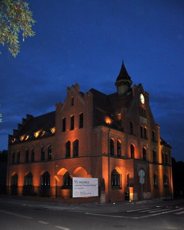 Podświetlenie Muzeum Powstań Śląskich w Świętochłowicach