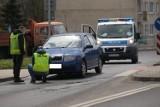 Wypadek na przejściu dla pieszych na ulicy Leszczyńskiego w Słupsku