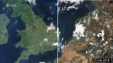Szokujące zdjęcia satelitarne - tak susza wpłynęła na Europę