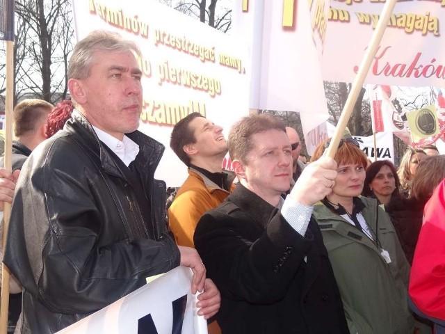 Pleszewianie na proteście w Warszawie