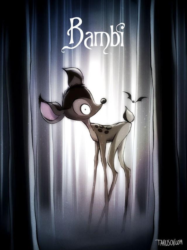 Co by było, gdyby Tim Burton reżyserował klasyczne bajki Disneya? Świetne plakaty