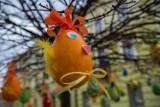 Wielkanoc 2021 w Tarnowie. Pisankowy desant na tarnowskiej Starówce. Kolorowe, wielkanocne ozdoby przystroiły Tarnów [ZDJĘCIA]