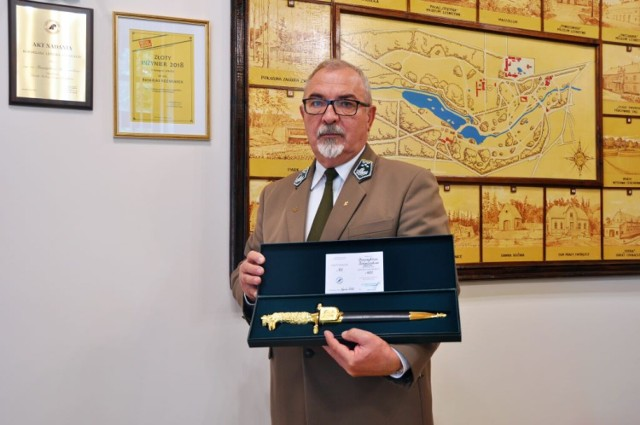 Złoty Kordelas dla dyrektora Ośrodka Kultury Leśnej w Gołuchowie