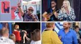 """Dni Inowrocławia 2021. """"Kawka z Gwiazdami"""", czyli Maria Sadowska, Andrzej Pągowski i Rafał Zawierucha na inowrocławskim Rynku. Zdjęcia"""