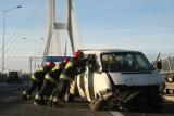 Wypadek busa na Autostradowej Obwodnicy Wrocławia. Zakorkowana AOW!