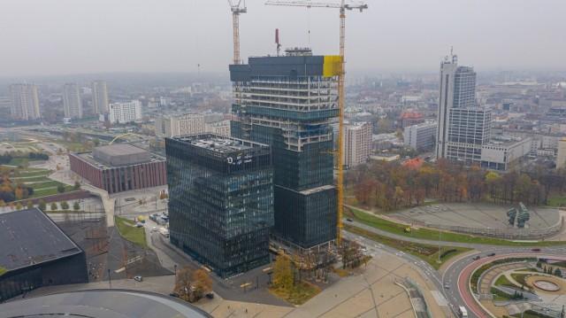 Budowa wieżowca .KTW II w Katowicach